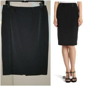 White House Black Market 8 button pencil skirt